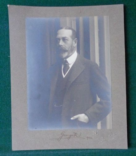 Antique Photo by Russell & Sons Signed by King George V 1924 George R.I.